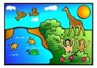 Knutselen cena de Adão e Eva 1