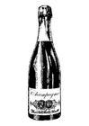 Página para colorir champanha