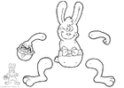 Knutselen coelho da Páscoa - fantoche