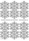 Knutselen decoração de floco de neve - pequena