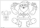 Knutselen fantoche de Papai Noel