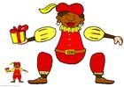 Knutselen fantoche de Zwarte Piet