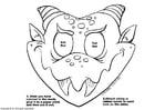 Knutselen máscara de dragão