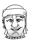Knutselen máscara de pirata / ladrão