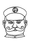 Knutselen máscara de policial