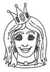 Knutselen máscara de princesa