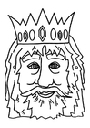 Knutselen máscara de rei