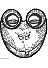 Knutselen máscara de sapo