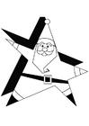Página para colorir Papai Noel 1a