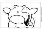 Página para colorir vaca