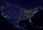 Foto a terra a noite - áreas urbanizadas América do Norte