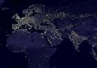 Foto a terra a noite - áreas urbanizadas