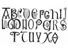 Página para colorir alfabeto anglo-saxão dos séculos VIII e IX