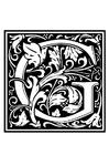 Página para colorir alfabeto decorativo - G
