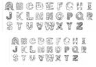 Página para colorir alfabeto