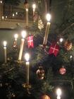 Foto árvore de Natal com velas