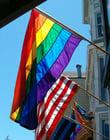 Foto bandeira de arco-iris