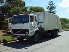 Foto caminhão de lixo