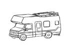 Página para colorir caravana