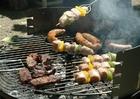Foto carne no churrasco