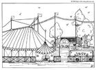 Página para colorir circo