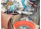 Foto classificação de lixo em favela em Jakarta