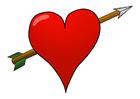 imagem coração flechado