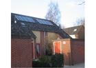 Foto energia solar - painéis solares no telhado