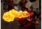 "Foto engolidor de fogo da ""Jaipur Maharaja Brass Band"""