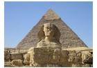 Foto esfinge e pirâmide em Gizeh
