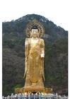 Foto estátua de ouro de Maitreya