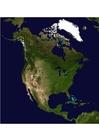 Foto foto de satélite da América do Norte