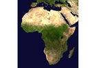 Foto foto de satélite de África