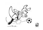 Página para colorir futebol