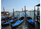 Foto gôndolas em Veneza