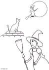 Página para colorir halloween