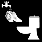 Página para colorir lavar as mãos depois de usar o toilete
