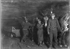 Foto mineradores de carvão, 1908