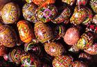 Foto ovos de Páscoa pintados