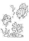Página para colorir pescar com amigo no mar