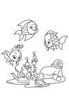 Página para colorir pescar com amigos