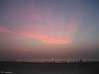 Foto por do sol na praia