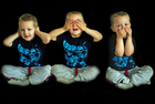 Foto provérbio - não ouça o mal, não fale o mal e não veja o mal