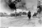 Foto Russia - vilarejo em chamas com a cavalaria