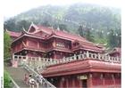 Foto templo no Monte Emei