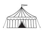 Página para colorir tenda de circo
