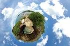 Foto terra - efeito panorama