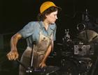 Foto trabalhadora de fábrica - 1942
