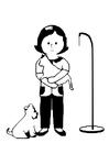 Página para colorir veterinário