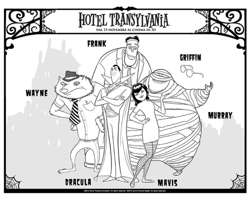 Página para colorir Hotel Transilvania